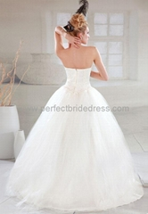 Tulle Strapless Ball Gown Simple Wedding Dress WAAWD002