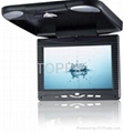 Toppie 9.2 inches Roof Mount car TFT-LCD monitor with TV/DVCD/CD/MP3/MP4 Player 1
