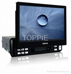 Toppie 7 inches VGA Touch Screen Fully-Motorized In-Dash Car TFT-LCD Monitor