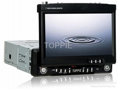 Toppie 7'' In-Dash TFT-LCD Monitor with car TV/DVD Player/MP3 Player/CD Player