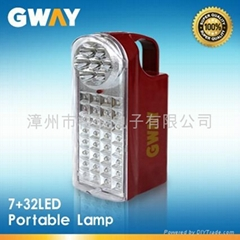 7+32 LED Rechargeable Lantern with 6V/4Ah Sealed Lead-acid Battery