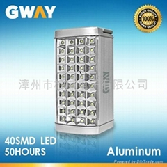 40pcs SMD3528 LED emergency light, used 6V 4AH sealed lead-acid battery