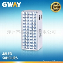 LED Emergency Light with 48-piece LEDs, Transformer Charging,6V4AH Battery