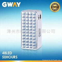 LED Emergency Light with 48-piece LEDs, Transformer Charging,6V4AH Battery