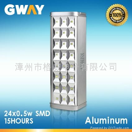 24-piece SMD LED Rechargeable Lanterns with 6V 4Ah Sealed Lead-acid Battery  1