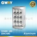 12-piece 0.5W SMD LED emergency light,