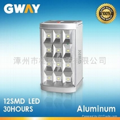 12-piece 0.5W SMD LED emergency light, 6V/4Ah Sealed Lead-acid Battery
