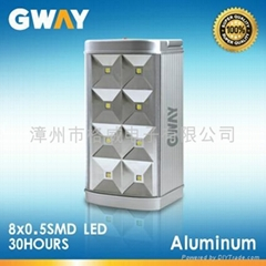 LED Camping Lantern with 8-piece 0.5W SMD LED Emergency Light