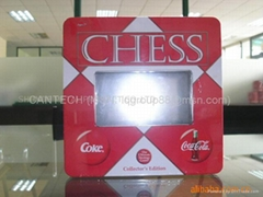 Tin Chess Box with PVc w
