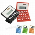 Flexible Silicone Rubber Solar Calculator(HC-223D)