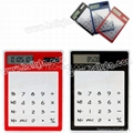 Transparent Solar Power Touch Screen Keypad  Mini Calculator