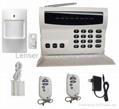 Auto Dial 8-zone wireless PSTN security alarm signal system