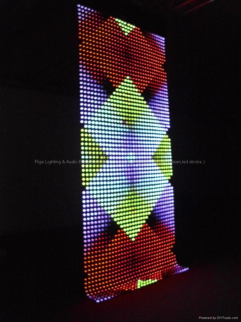 LED flex grid display/led rolling display/led soft display 4