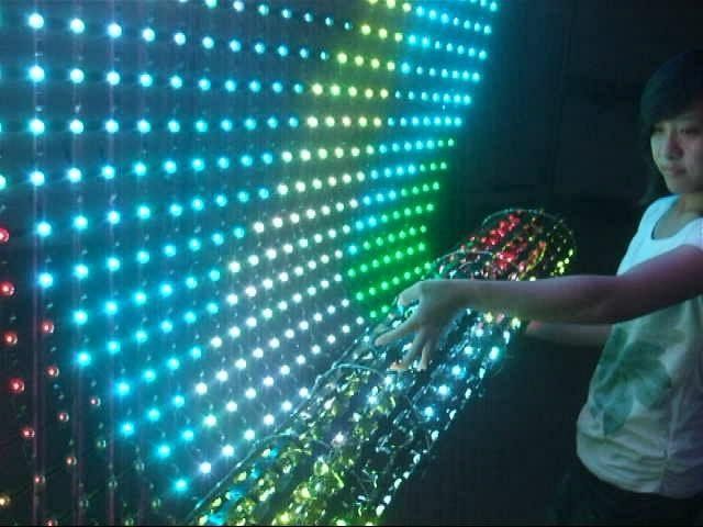 LED flex grid display/led rolling display/led soft display