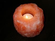 crystal salt candle holder