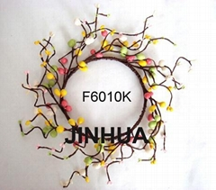 fruit wreath,beaded wreath,handcrafted metal wreath,wall wreath,wall decoration