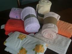 coral fleece throw/blanket