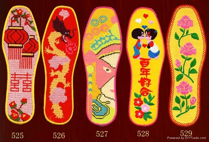 鞋垫专用绣花机 5