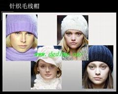 毛织帽子围巾手套