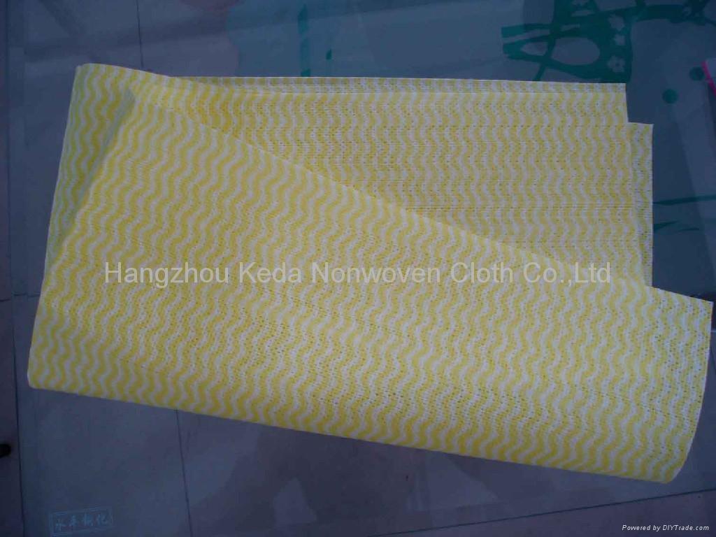 Spunlace nonwoven fabric Wave printing type 3