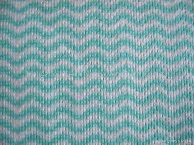 Spunlace nonwoven fabric Wave printing type 1
