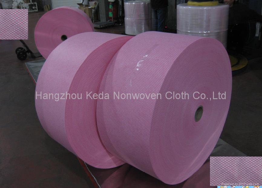 Spunlace nonwoven fabric Diamond printing type 1