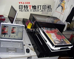digital inkjet Flatbed T-shirt printer A3+ size