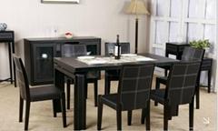 Leather modern dinning room furniture set
