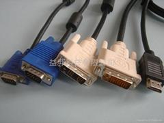 HDMI, DVI, VGA CABLES