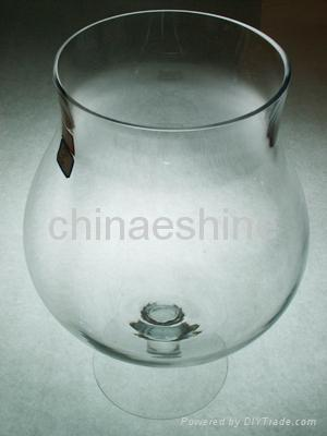 clear glass candle holder 2