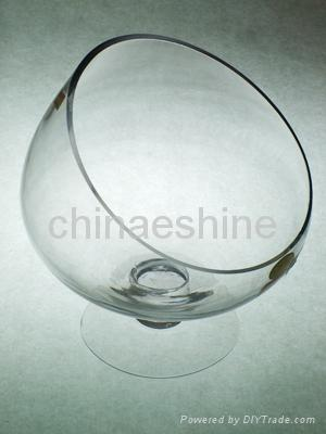 clear glass candle holder 3