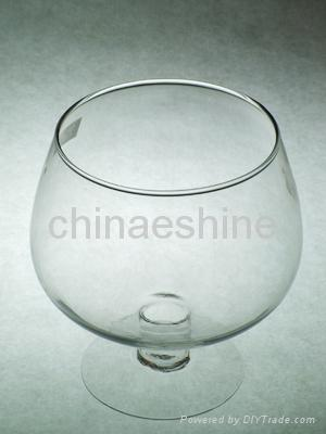clear glass candle holder 4