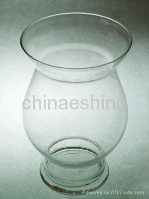 clear glass candle holder 5