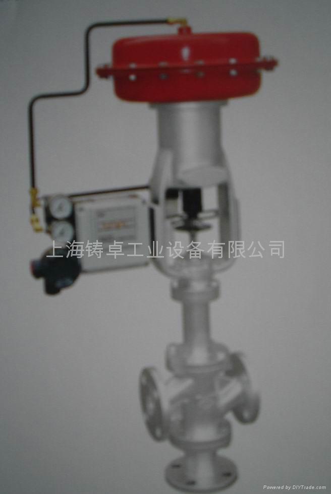 热媒三通气动控制阀图片