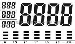 小电子飞镖LCD IC外形图