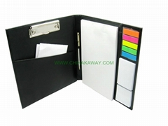 PU file organizer set with sticky notes ,3036