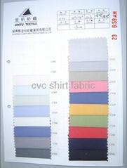 cvc plain shirting fabric