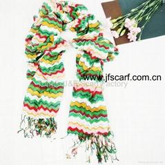 供应秋季防紫外线 彩条围巾