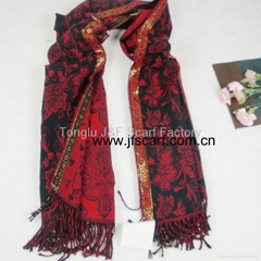 供應熱賣歐美 提花 圍巾,披肩