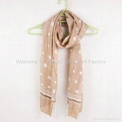 2011 时尚丝绸 圆点 围巾
