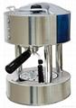 Espresso coffee machine with stainless