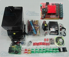 Casino game kits with the GARAGE PCB,Coinhopper,coin acceptor, buttons, harness