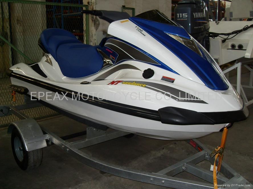 Jet ski motor in fishing boat all boats for Kawasaki outboard boat motors