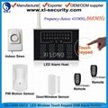 Intruder alarm with innovative