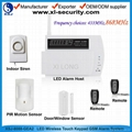 LED wireless GSM alarm system