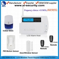 LCD wireless GSM alarm system