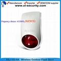 Wireless outdoor flash siren for alarm