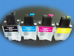 Refillable Ink Cartridge & Auto Reset Chip for Epson/Canon/HP/Brother