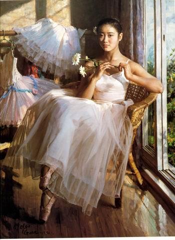 Realistic Ballerina Art Oil Painting 1