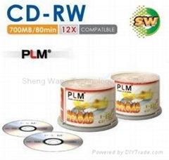 Blank CD-RW dis